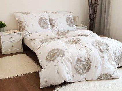 Metráž bavlna - Pampelišky bílo-béžové