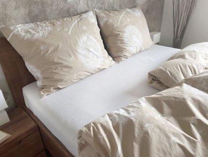 Metráž bavlna - Pampelišky béžové