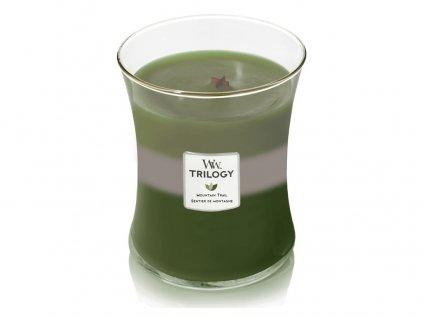 Svíčka oválná váza WoodWick TRILOGY 275g - Horská stezka
