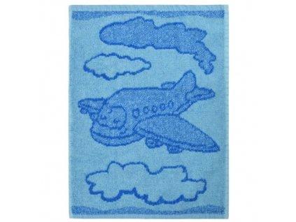 Detsky rucnik Plane blue 30 x 50 cm