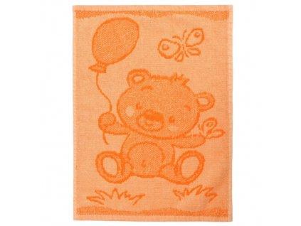 Detsky rucnik Bear orange 30 x 50 cm