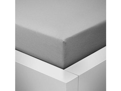 Jersey prostěradlo  LYCRA 180x200 / 25cm - šedé středně