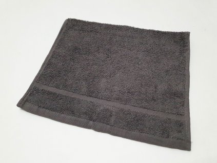 ručník30x50tm.šedý