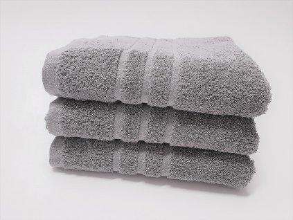 Froté ručník 30x50 - Světle šedý