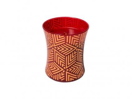 Svíčka oválná váza  WoodWick 275g - Červená jeřabina design