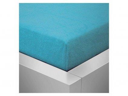 Froté prostěradlo 180x200 /25cm - modré