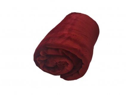Mikroplyšová deka - Vínová 200x220