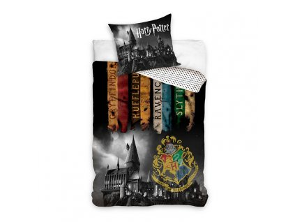 bavlnene obliecky harry potter black 140x200cm 2814