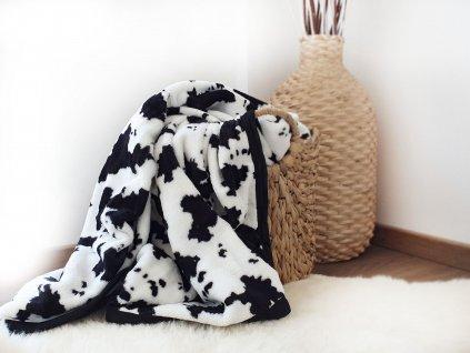 Mikroplyšová deka - Kraví print