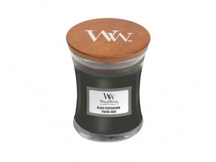 Svíčka oválná váza  WoodWick 85g - Černý pepř
