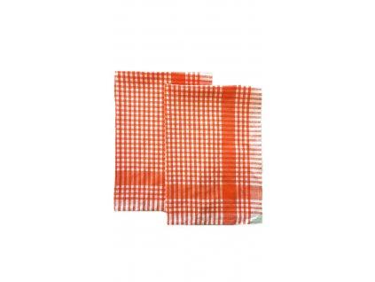Bavlněná utěrka - oranžová