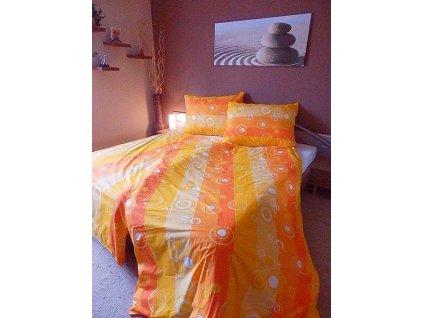 Bavlněné povlečení 140x220 - Bublina oranž
