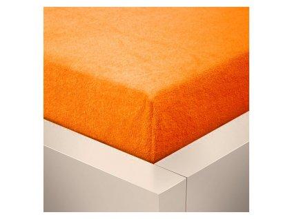 Froté prostěradlo 180x200 - oranžové