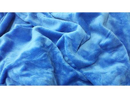 mikroplyšové prostěradlo modré S