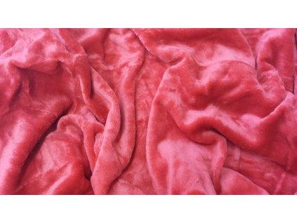 Mikroplyšové prostěradlo 180x200 - tmavě červené