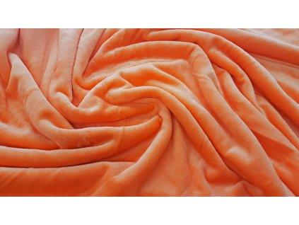 Mikroflanel prostěradlo 180x200 - oranžové