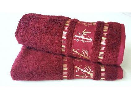 Bambusový ručník BAMBOO Exclusive - Bordó 50x90