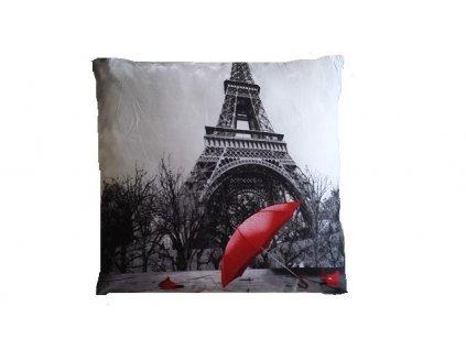 3D polštářek Paříž deštník
