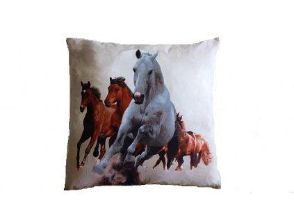 3D polštářek stádo koní