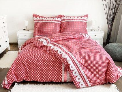 Bavlněný povlak  na polštář  40x40 - Kanafas červený