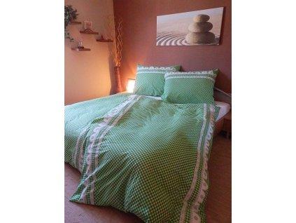 Bavlněný povlak  na polštář  40x40 - Kanafas zelený