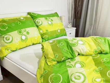 Bavlněný povlak na polštář 70x90 - Bublina zelená