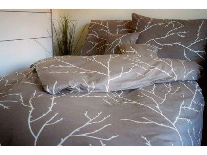 Bavlněný povlak na polštář 70x90 - Větvičky