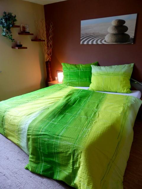 Metráž bavlna - Cákance zelené