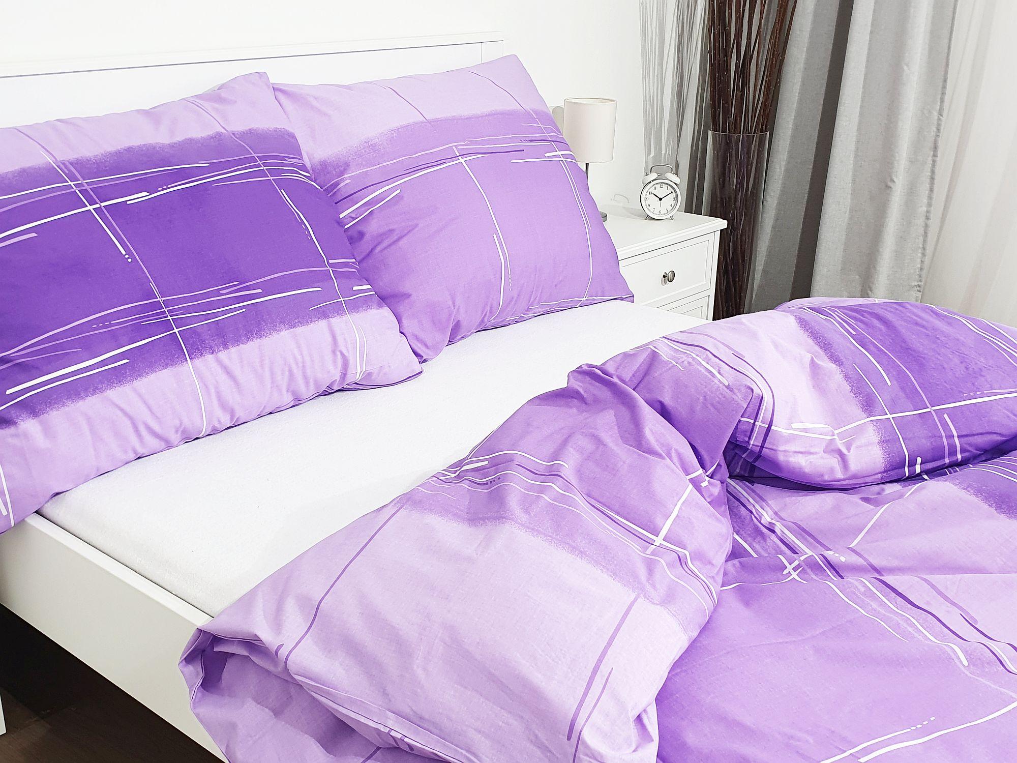 Bavlněné povlečení 140x260 - Cákance fialové
