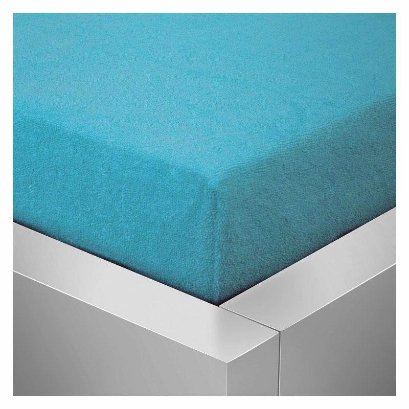 Froté prostěradlo  90x200 /25cm - modré