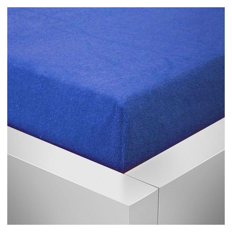 Froté plachta 140x200 / 25cm - tmavo modré