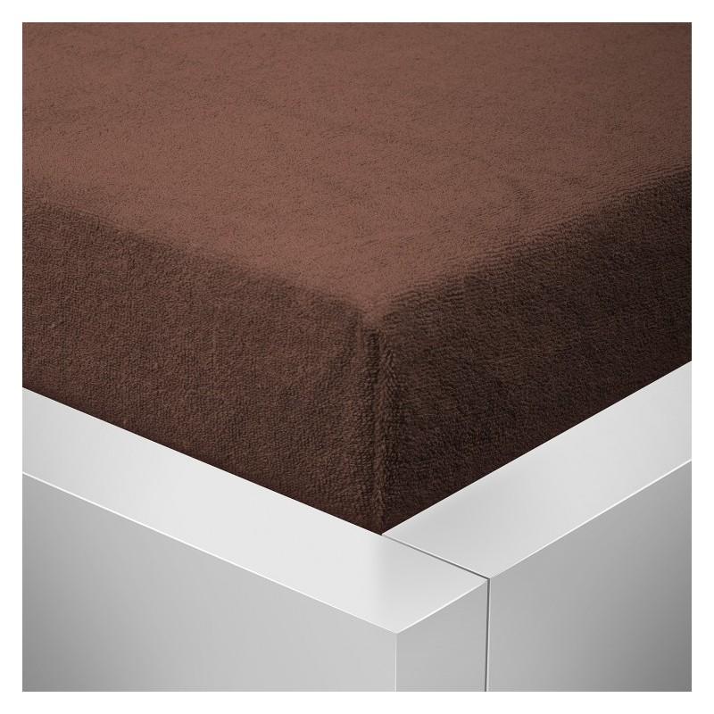 Froté prostěradlo 160x200 /25cm - čokoláda