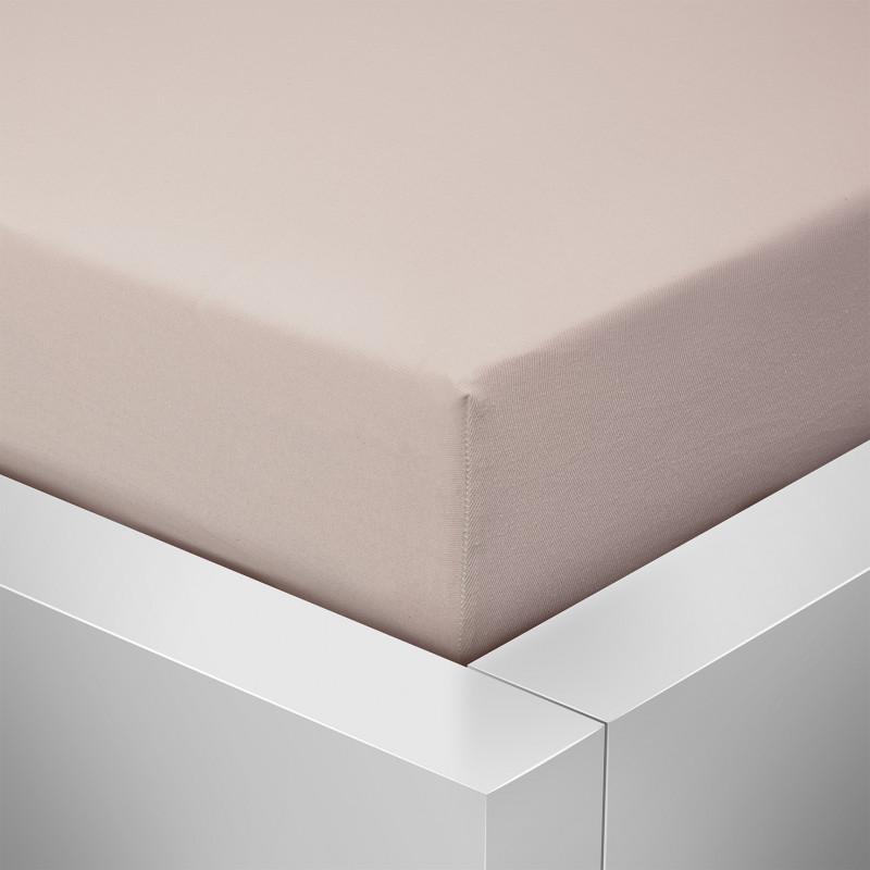 Jersey prostěradlo  LYCRA 90x200 / 25cm - béžové