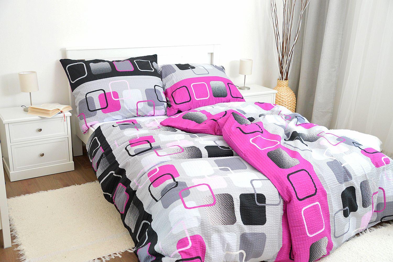 Krepové obliečky 140x240 - Obrazovky ružové
