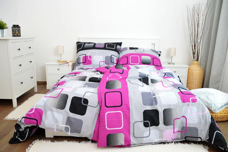 Krepové obliečky 200x200 - Obrazovky ružové