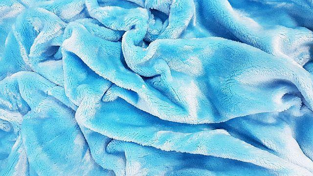Mikroflanel prostěradlo 180x200 - světle modré