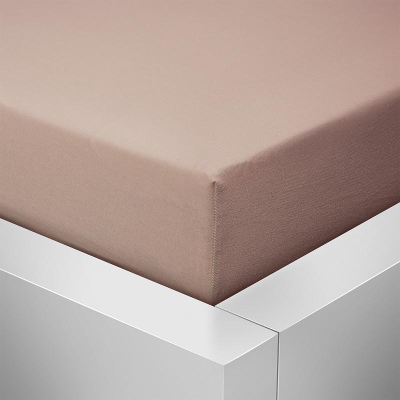 Jersey prostěradlo  LYCRA 180x200 / 20cm - kakao