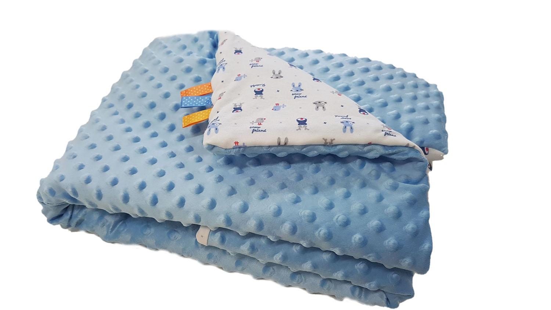 Dětská deka MINKY - světle modrá