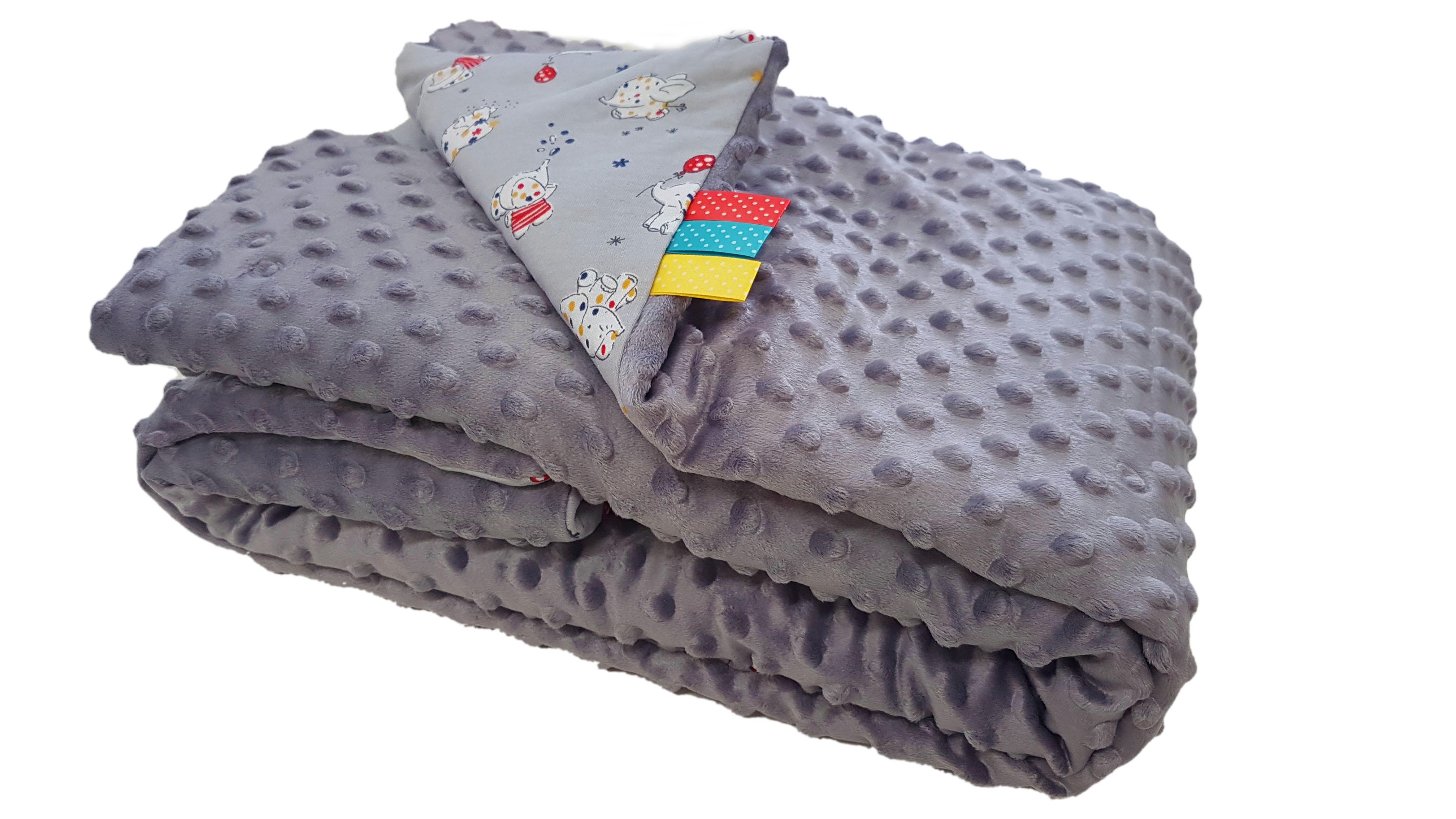 Dětská deka MINKY - šedá