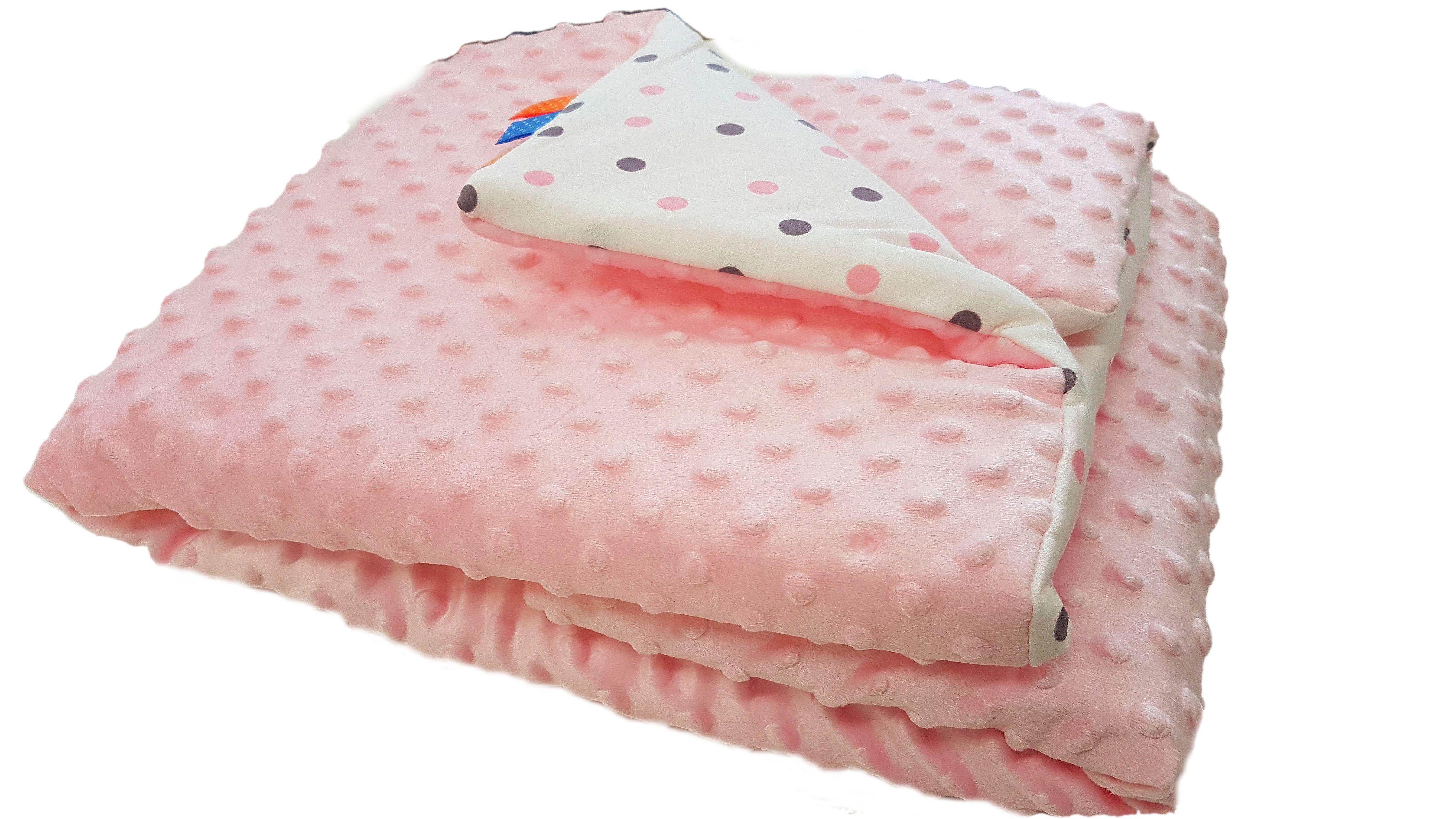 Dětská deka MINKY - světle růžová