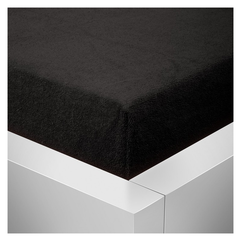 Froté prostěradlo 180x200 /25cm - černé