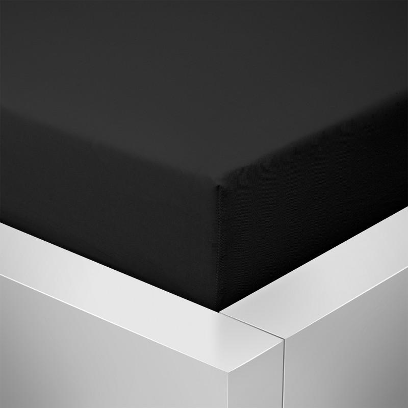 Jersey prostěradlo  LYCRA 90x200 / 25cm - černé