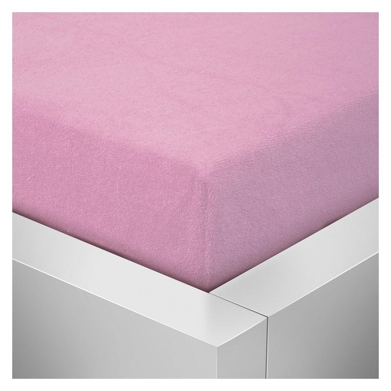 Froté prostěradlo 70x140 - Růžové
