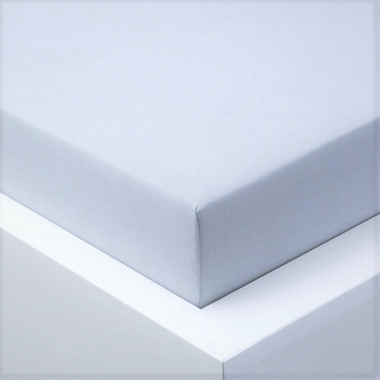 Jersey prostěradlo  LYCRA 90x200 / 25cm - šedé