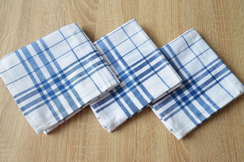 Bavlněná utěrka - vyvařovací - modrá multipack