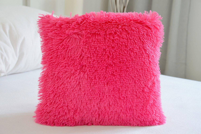 Chlupatý povlak na polštář 40x40 - Peluto růžový