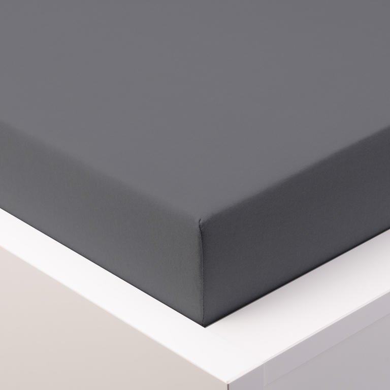 Jersey prostěradlo  LYCRA 90x200 / 25cm - šedé tmavě