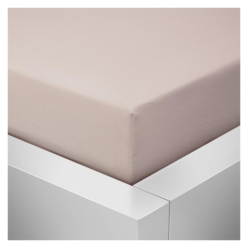 Jersey prostěradlo  LYCRA 180x200 / 25cm - béžové