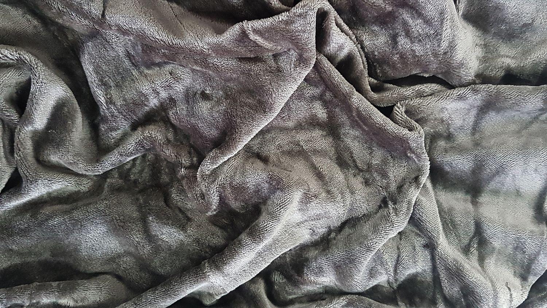 Mikroflanel prostěradlo 90x200 - tmavě šedé