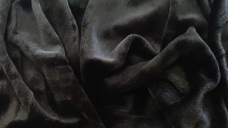 Mikroflanel prostěradlo 180x200 - černé